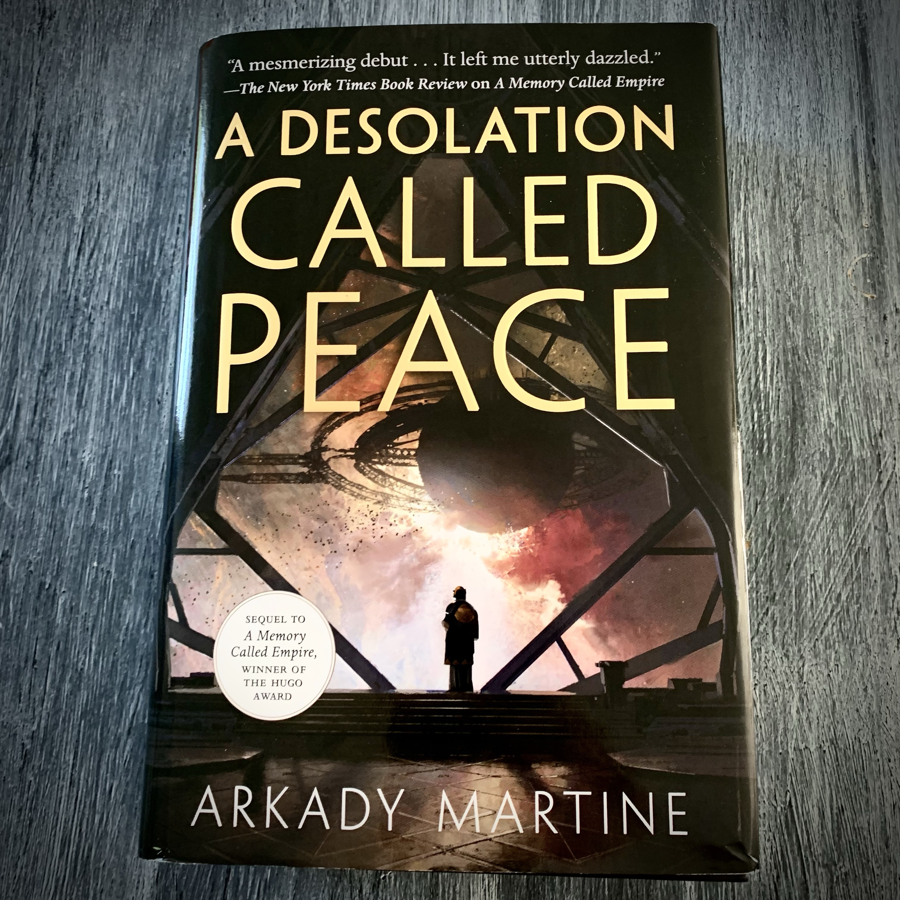 The cover of Arkady Martine's A Desolation Called Peace.