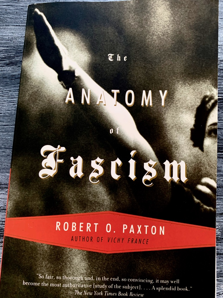 The cover of Robert. O. Paxton's The Anatomy of Fascism